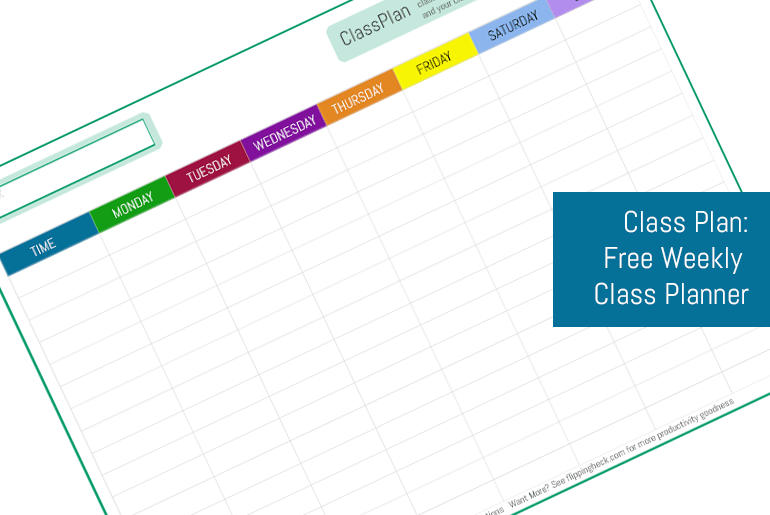 Class Planner - Free Timetable Download