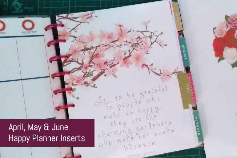 Free Download April May June Happy Planner Dividers