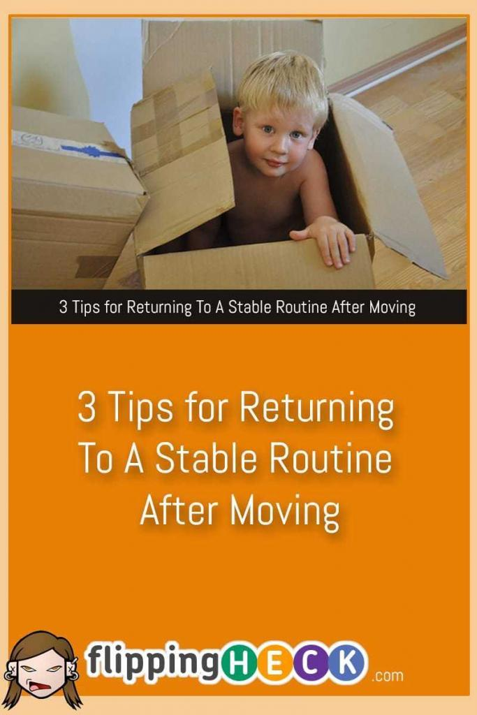 Moving is one of the most stressful things a person can do in your life - even more so if you have a family and pets (or a family of pets!). In this post Kevin Faber looks at 3 simple ways you can get back to your normal routine after a major upheaval.