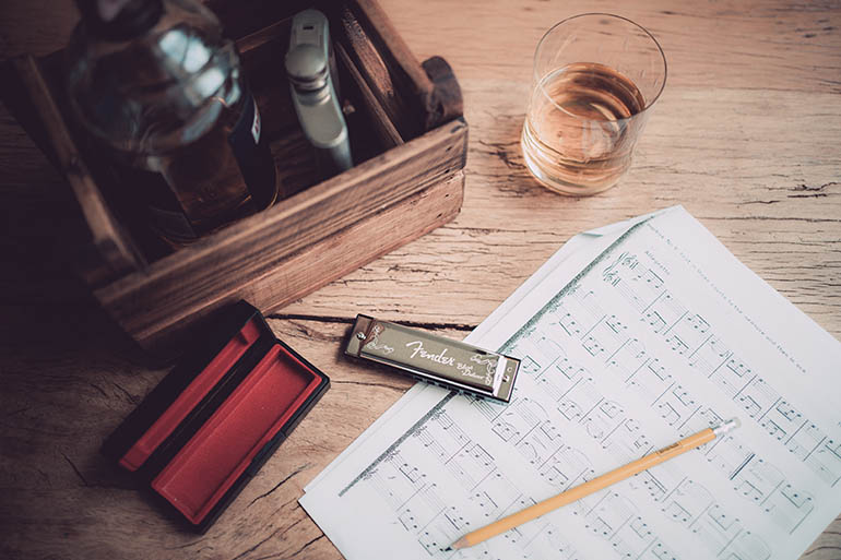 Harmonica And Sheet Music