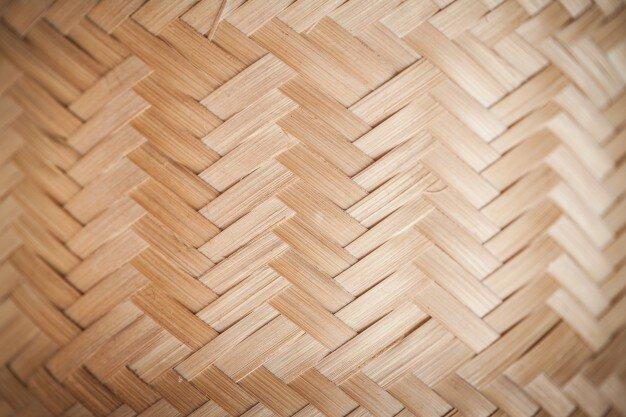 Hardwood flooring in a herringbone design