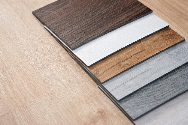 Sample catalog of luxury vinyl floor tiles