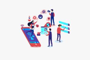 Illustration of aspects of social media