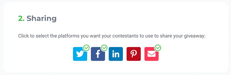 Social media sharing icons example