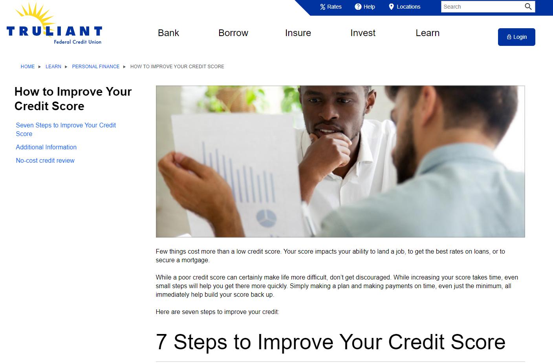 Truliant website screen capture