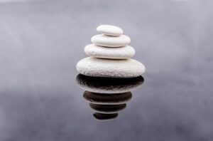 Pile of rocks on top of each other showing balance