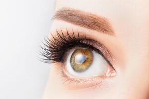 Extreme closeup of a woman's eye
