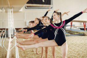 Class of children stretch