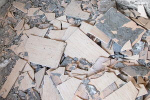 Pile of tiles on the floor